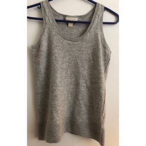 Michael Kors 100% Cashmere Tank Gray Small